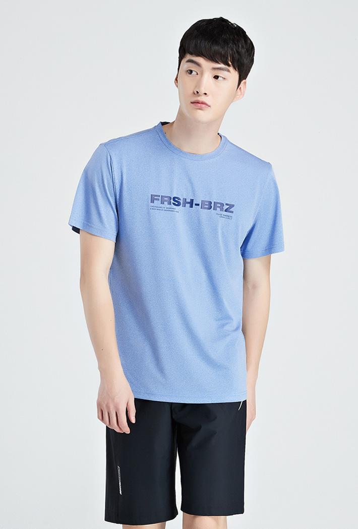 남성 쿨테크 그래픽 반팔 티셔츠-KBZK5809D0D