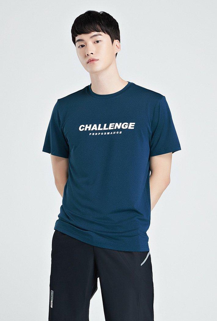 남성 쿨테크 그래픽 반팔 티셔츠-KBZK5809D0H