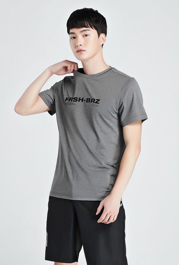 남성 쿨테크 그래픽 반팔 티셔츠-KBZK5809D0L