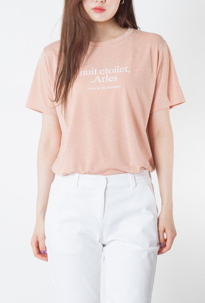 여성 레터 쿨 티셔츠-KCRG5891F0P