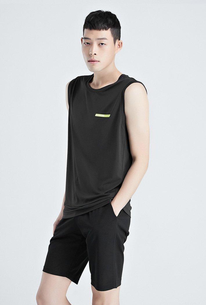 남성 쿨테크 그래픽 나시 티셔츠-KCZK5902E03
