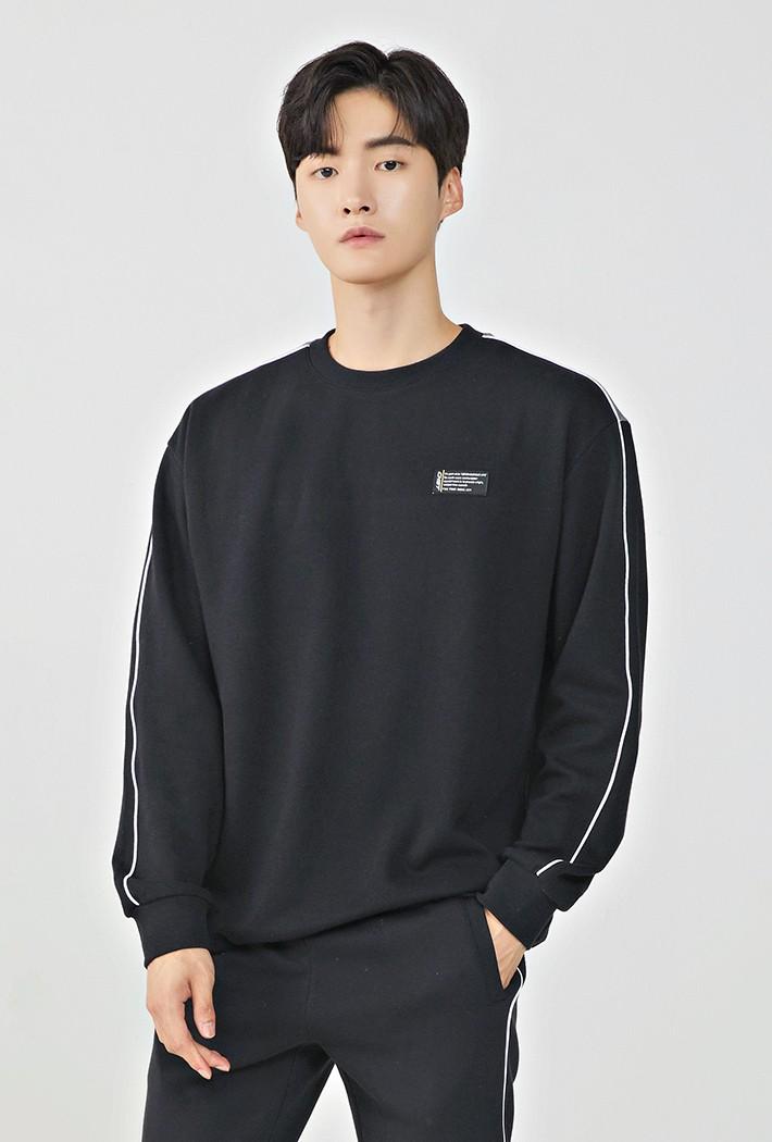 남성 세미 오버핏 스포티브 티셔츠KEAK5118B03