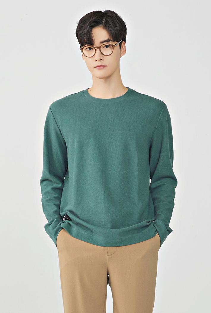 남성 소재변형 긴팔 티셔츠KERK5112B0H