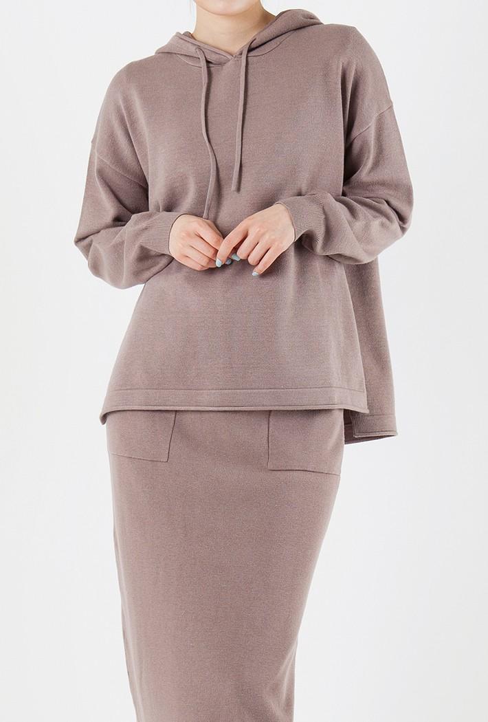 여성 루즈핏 후드 스웨터KFRG5224D18