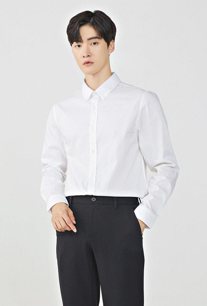 남성 솔리드 스판 셔츠KHZK5401B01